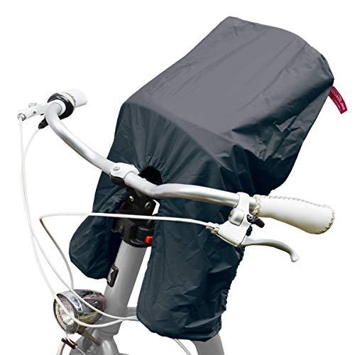 TROCKOLINO Avanti Regenschutz für den Frontsitz Lenker-Fahrradsitz, schwarz