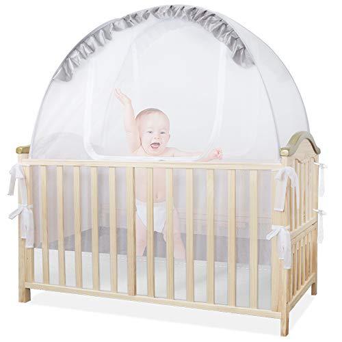 ZEHNHASE Mosquitera Cama Bebés, Carpa emergente de Seguridad para Cuna para bebé, Cobertor para mosquitera Yurta, Protección contra Insectos Voladores y Mosquito - 140 * 130 * 69cm