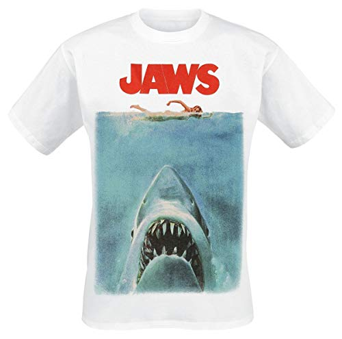 Der Weisse Hai Poster Männer T-Shirt weiß L