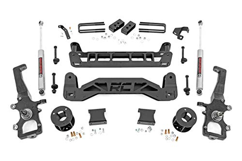 Rough Country 4' Lift Kit (fits) 2004-2008 F150 (F-150) 2WD w/ N3 Shocks Spindle...