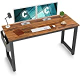Cubiker Computer Desk 55' Modern Sturdy Office Desk Large Writing Study Table for Home Office with Extra Strong Legs, Dark Rustic