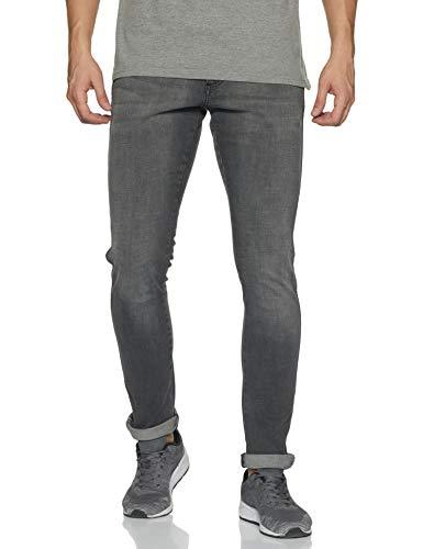Wrangler Men's Skinny Fit Jeans (W38495W22SMU_Jsw-Black_32W x 33L)