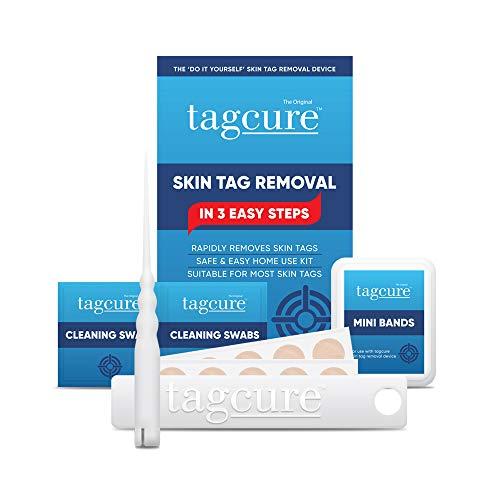 Tagcure Extra Strong - Set zum Entfernen von Fibrom, Warze, Stielwarze oder Hautausstülpung - schonend durch Microbänder/Microband (Tagcure Starter Set 10 Microbänder)