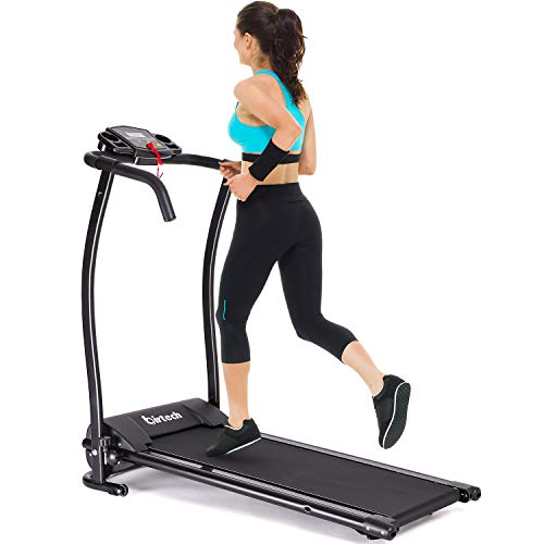 Electric Folding Treadmill for Home, Electric Motorized Health & Fitness Exercise Machine, Easy Assembly Cardio Machine with LED Display, Walking Jogging Running, Perfect for Home Office Use