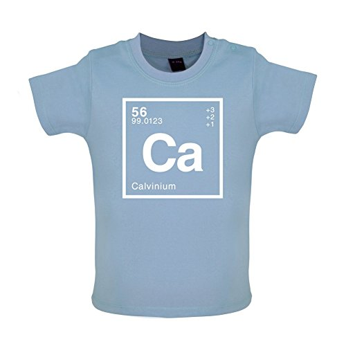 CALVIN - Periodic Element - Baby / Toddler T-Shirt - Dusty Blue - 3-6 Months