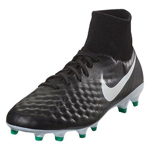 Nike Magista Onda II DF FG, Scarpe da Calcio Uomo, Nero Bianco Grigio Freddo Verde 002, 38.5 EU