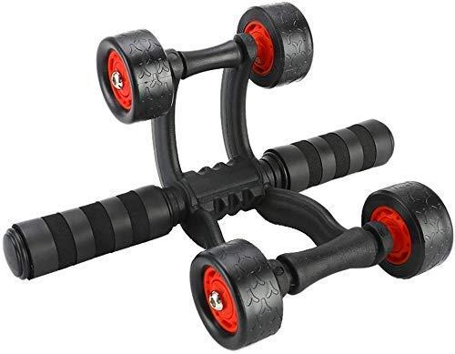 ZZXXB Muskeltrainer Abdominal Rad Ab Roller mit Matte Bauch for Taille und Bauch Übung Fitness Equipment Power Roller, for Heim und Büro Judith