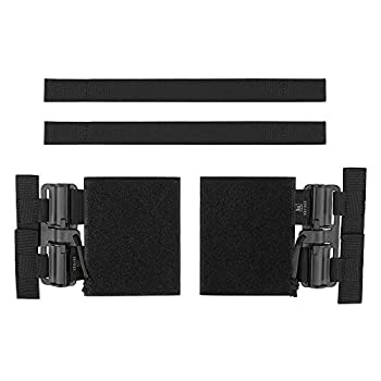 KRYDEX Quick Release Buckle Set,Single Point Molle Quick Disconnect Side Entry Conversion with Hoop and Loop for JPC CPC NCP XPC 420 Vest  Black