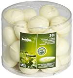 Bolsius Unscented Floating Candles – Tube 30ct. 1.3/4 inch Ivory Floating Candles – Cute and Elegant Burning Candles – Candles with Nice and Smooth Flame – Party Accessories