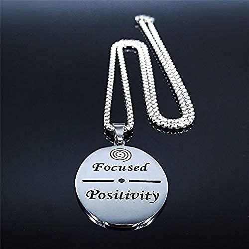 POIUIUYH Co.,ltd Halskette Positiv fokussiert Whirlpool Kragen Edelstahl Kette Frauen/Männer Silber Farbe Halskette Schmuck Ketten Frau
