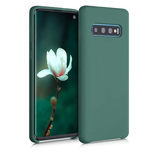 kwmobile Custodia Compatibile con Samsung Galaxy S10 - Cover in Silicone TPU - Back Case per Smartphone - Protezione Gommata Verde Militare