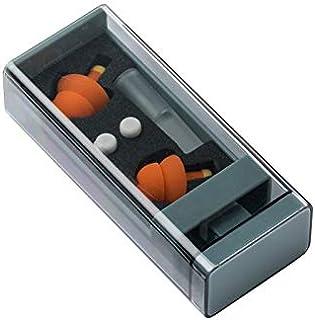 耳栓 繰り返し使用可能 安眠 防音 シリコーン 飛行機用 携帯便利 睡眠用 ケース付き (防音耳栓)