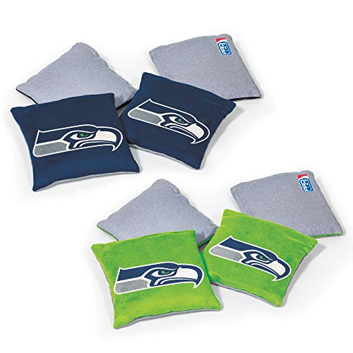 Wild Sports NFL Seattle Seahawks 8pk Dual Sided Bean Bags, Team Color
