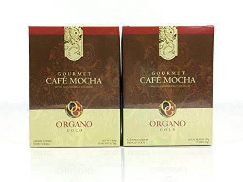 2 Boxes Organo Gold Gourmet Cafe Mocha,14.9 oz NET,15 sachets