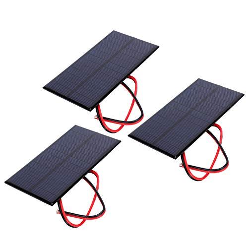 3 Pièces Mini Panneau Solaire Dc 6 V Polysilicium Module de Chargeur de Cellule époxy Solaire Kits de Système de Bricolage Solaire Avec Câble de 30 cm