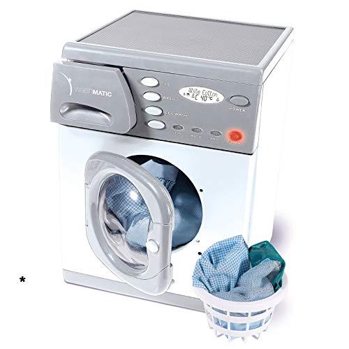 Elektrische Spielzeug Waschmaschine mit Licht und Sound inklusive Wäschekorb - Kinder Haushalts Gerät Spiel Kind Die elektrisch betriebene Kinderwaschmaschine funktioniert fast wie ihr großes Vorbild