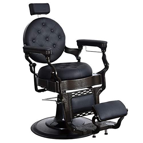 BarberPub Vintage Heavy Duty Metal Frame Chair