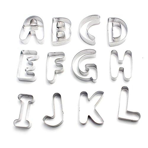 FantasyDay Ausstechformen-Set für Kekse, Teig, Fondant, Donuts, klassisches Design, 7,6 cm, Edelstahl, 26 Stück