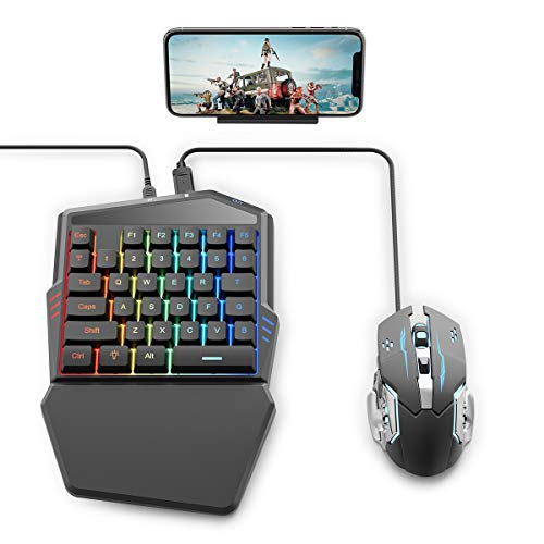 IFYOO Gaming Keyboard and Mouse Combo Set for Mobile Games Controller, Compatible with Android Phone/Tablet, for PUBG Mobile/Fortnitee Mobile/Call of Duty Mobile