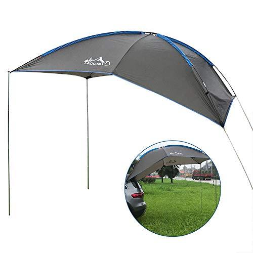 Autodachmarkise Wasserdichtes, reißfestes Auto-Camping-Zelt Langlebiges Auto-Seiten-Markisen-Anti-UV-Zelt für SUV MPV-Anhänger Strandcamping-Auto-Reisezelt