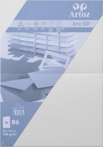 Artoz Papier AG - Doppelkarte B6 1001 Classic 5er-Pack ivory
