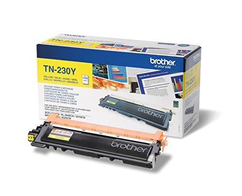 Brother Original Tonerkassette TN-230Y gelb (für Brother DCP-9010CN, MFC-9120CN, HL-3040CN, HL-3070CW, MFC-9320CW)