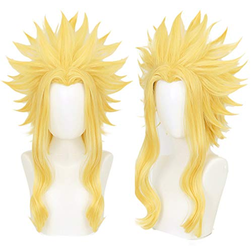 JoneTing Yellow Cosplay Wig with Short Wavy Wigs for Boy Synthetic Wigs for Halloween Wigs