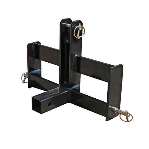 Titan Distributors Inc. Tractor Drawbar with Suitcase Weight Brackets and a 2' Receiver Fits Category 0 3-Point