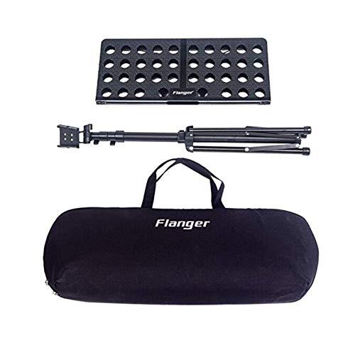 Soporte plegable con bolsa ajustable de 27.6 a 57.1 pulgadas, adecuado para sostener libros de música.