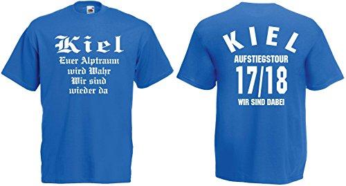 Fruit of the Loom Kiel Aufstiegs-Tour T-Shirt von S-XXXL Aufsteiger 2017/18|blau-XXL