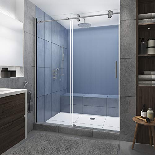 Aston SDR978EZ.UC-SS-4880-R Langham XL Shower Door, Brushed Stainless Steel, Clear - Right