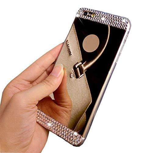 LIUYAWEI Funda de Diamantes de imitación 3D para Samsung Galaxy A10 A30 A50 M10 M20 S10 S9 S8 Plus S10E S6 S7 Borde A6 A8 A7 A9 2018 J4 J6 J8 Plus Cubierta, Dorado, S7