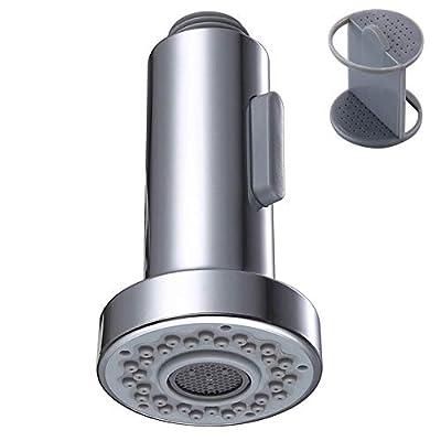Kitchen Faucet Sprayer Head, Angle Simple Pull Out Sink Faucet Spray Head Nozzle Kitchen Pull Down Faucet Nozzle Spout Replacement Part 2 Functions, Chrome