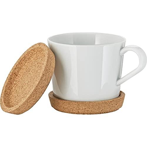 Ikea 365+ - Set di 2 sottobicchieri in vetro per tazze, tazze da tè e bicchieri universali, Ø 10 cm, in sughero