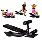 The Abs Company X3S Bench - Full Body Functional Trainer, Adjustable Incline Bench, Sissy Squats Machine, Core Trainer, Crossfit Workout (2021 Model)