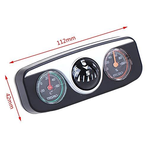 Terrarum Nieuwe Hot Koop 3 in 1 Kunststof Gids Bal Kompas Thermometer Hygrometer Voor Auto Boot Voertuigen Groothandel
