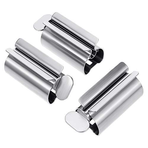 upain Tandpasta Squeezer Metalen Rolling Tube Squeezer Tandpasta Stoelhouder Stand Draai Tandpasta Dispenser voor Badkamer 3 Stuks