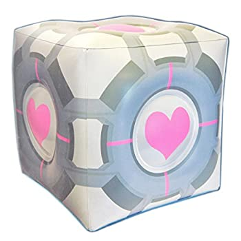 Portal 2 Companion Cube Inflatable Ottoman [The Coop]