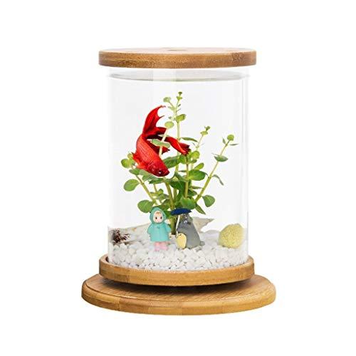 Liefde lamp Ecologische Fles Sier Kleine Vis Tank Kleine Desktop Creatieve Vechten Vis Tank Gratis Water Mini Kantoor Aquarium
