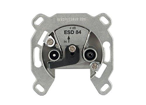 Kathrein ESD 84 Antennen-Steckdose 2-fach (TV, Radio, Breitband Einzelanschlussdose) (3 Stück Antennensteckdose)