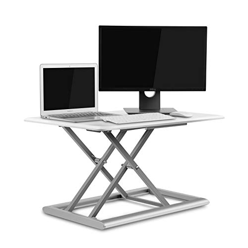UPERGO Standing Desk Converter, Height Adjustable Sit Stand Up Desk 30inx20in,Aluminum Made Design for Monitor and Laptop,Sit to Stand in Seconds(ID-30W)