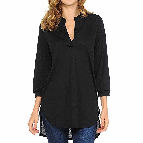 WARMWORD Blusas de Mujer, Mujer Camiseta Elegante Casual Hombros Descubiertos Blusa Mangas Largas Cuello V Jersey Punto Suelto Top Damas Moda Algodón Moda Tops Camisa Blusa