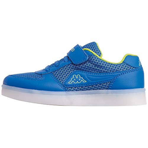 Kappa Fore Kids, Zapatillas Niños, Azul (Blue/Lime 6033), 25 EU