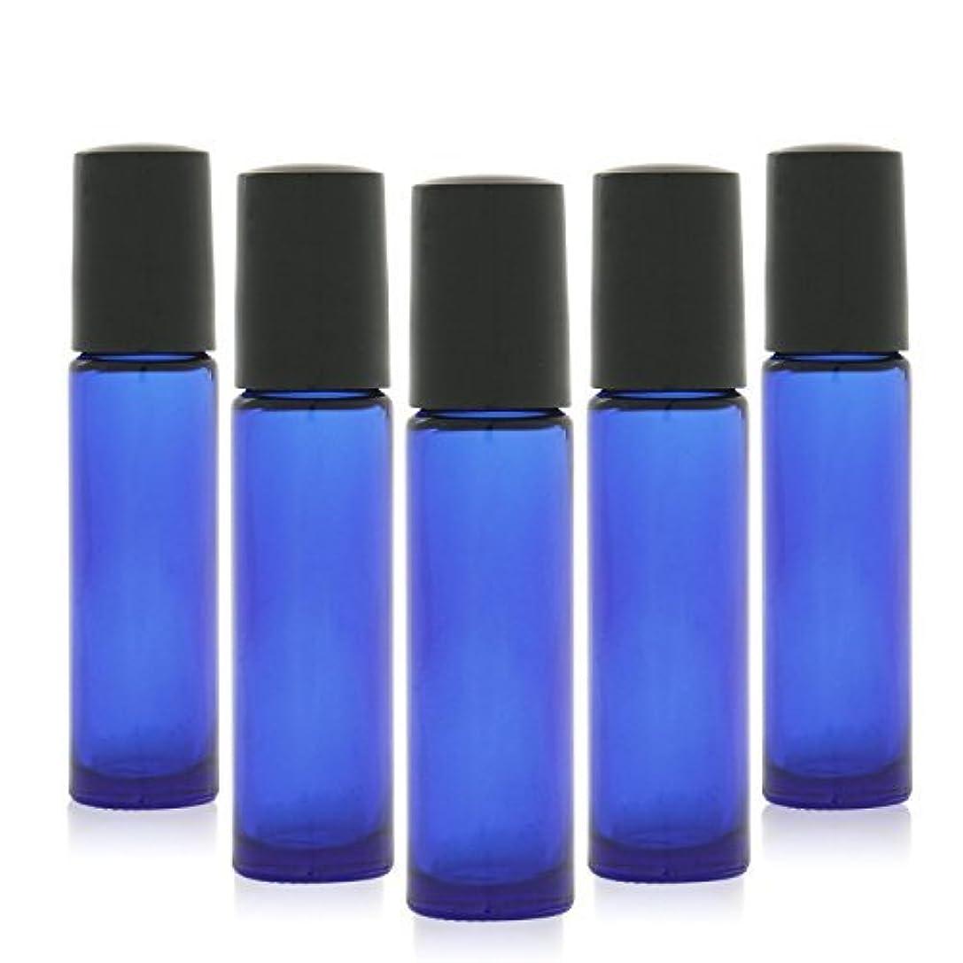 一致する海軍本部12 pcs, 10ml Cobalt Blue Glass Roller Bottles with Stainless Steel Roller Ball for Essential Oil - Includes 12 Pieces Labels, Essential Oils Opener, 2 Droppers [並行輸入品]
