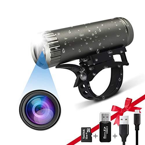 Fahrrad-Action-Kamera Motorrad-Kamera, Bildstabilisierung Full HD 1080P Motorrad Helm Sportkamera wasserdichte automatische Taschenlampe Dual-Use perfekte Outdoor-Sport-DV-Kamera