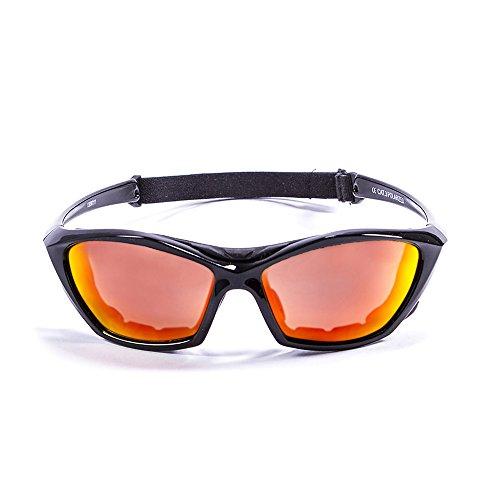 Ocean Sunglasses Lake Garda - Gafas de Sol polarizadas - Montura : Negro Brillante - Lentes : Amarillo Espejo (13001.1)