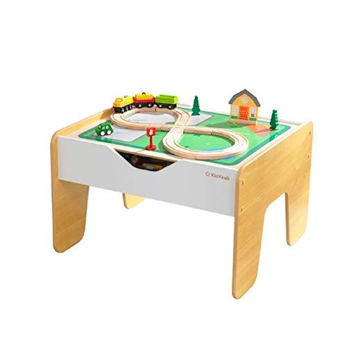 KidKraft - Holztisch 2 in 1 Zug und Bausteine - 200 Bausteine - kompatibel mit LEGO und Brio