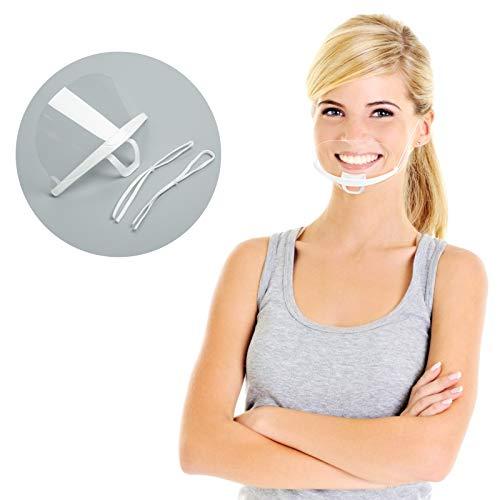 10 pezzi Visiera Bocca Paraschizzi Face Shield Protezione Schermo Facciale trasparente, traspirante, riutilizzabile, antipolvere antiappannamento con protettiva