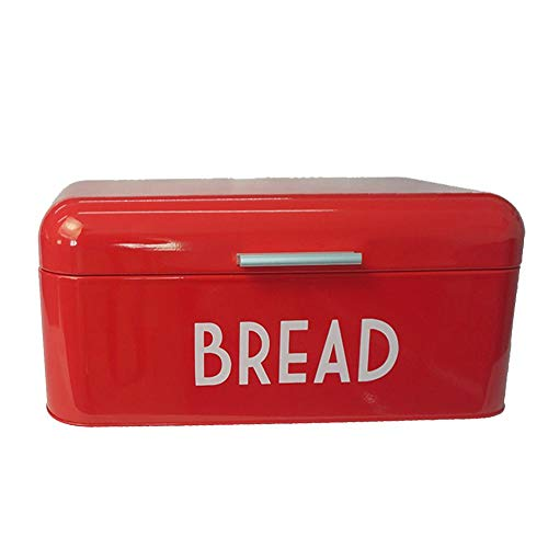 pasteles y galletas Caja de pan de metal de gran capacidad Soporte de cocina Organizador de almacenamiento Contenedor de almacenamiento de alimentos multiprop/ósito para panes Blanco