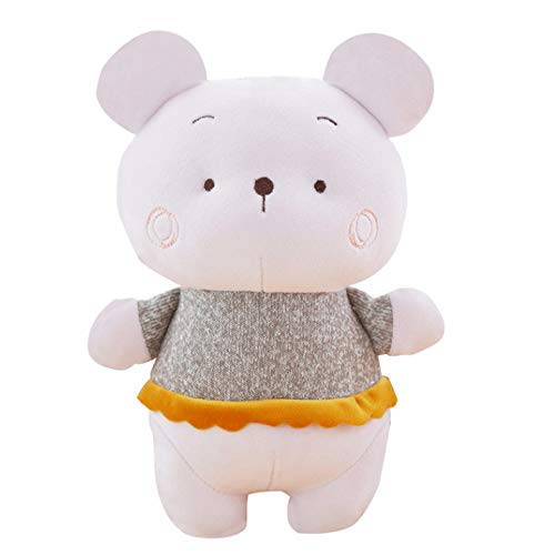 Knuffels Kawaii Big Head Rat Pluche Doll Super Soft Cotton Mouse kussen Cute Animal Pluche knuffel Bed Kussen Kussen Kinderen Toy 25cm